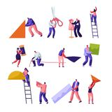 progettisti Adattamento ed insieme creativo di professione dei lavoratori dell'atelier La progettazione di modo, sarti da donna c illustrazione vettoriale