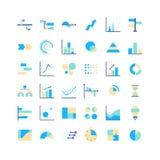 Progettisti enormi degli elementi di vettore di infographics messi Fotografia Stock