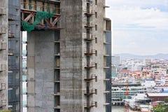 Progetto abbandonato di palazzo multipiano Immagine Stock Libera da Diritti