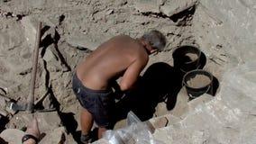 Progetto archeologico Noviodunum stock footage