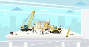 Progetto in architetto Office della Camera della costruzione royalty illustrazione gratis