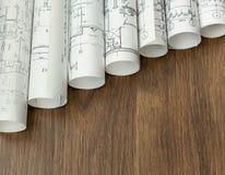 Progetto architettonico, modelli, blueprin fotografie stock