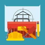Progetto in costruzione Fotografia Stock