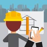 Progetto in costruzione Fotografie Stock