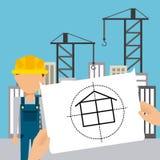 Progetto in costruzione Fotografia Stock Libera da Diritti