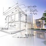 Progetto del palazzo Fotografia Stock Libera da Diritti