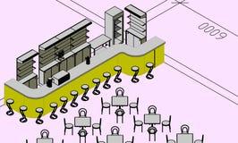 Progetto del ristorante illustrazione vettoriale