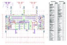 Progetto dell'aeroporto Fotografie Stock