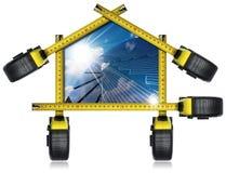 Progetto della Camera solare con le misure di nastro Immagini Stock