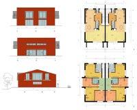 Progetto della casa vivente Immagine Stock