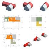 Progetto della casa vivente Fotografie Stock