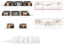 Progetto della casa vivente Fotografia Stock