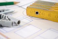 Progetto di costruzione Immagini Stock