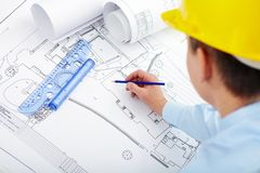 Progetto di costruzione Fotografie Stock