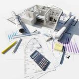 Progetto di costruzione Fotografia Stock