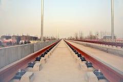 Progetto di costruzione della stazione ferroviaria di Luoyang LongMen nella ferrovia di alta velocità di Zhengxi Fotografie Stock Libere da Diritti
