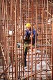 Progetto di costruzione della stazione ferroviaria di Luoyang LongMen nella ferrovia di alta velocità di Zhengxi Fotografia Stock Libera da Diritti