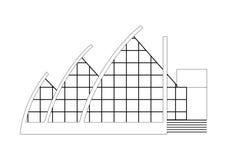 Progetto di costruzione di architettura di schizzo di vettore Immagine Stock