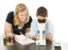 Progetto di scienza dei bambini Immagini Stock