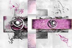 Progetto divertente di colore di progettazione dell'illustrazione astratta di arte illustrazione di stock