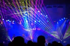 Progetto profondo di zona al concerto di EVE dei nuovi anni Fotografia Stock Libera da Diritti