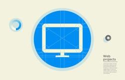 Progetto Web nel cerchio Fotografie Stock Libere da Diritti