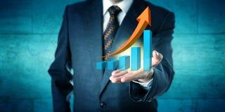 Prognos för chefOffers Exponential Growth trend Arkivbild