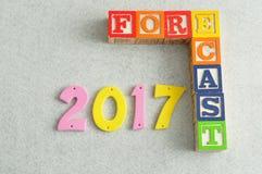 Prognose 2017 Stockfotografie
