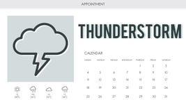 Prognosen-bewölktes Wetterbericht-Konzept stock abbildung