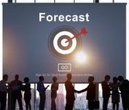 Prognosen-Vorhersagen-Plan-Ziel-Konzept Stockfotos