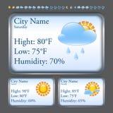 Prognoza pogody interfejs Fotografia Royalty Free