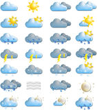 prognozy ikon pogoda Zdjęcie Royalty Free