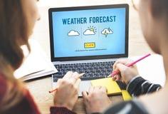 Prognozy Pogody natury zmiany klimatu pojęcie Fotografia Stock