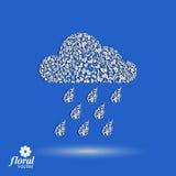 Prognozy pogody wektorowa ikona, meteorologia deseniujący symbol ilustracja wektor
