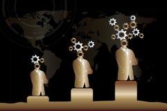 Progrès d'affaires et de technologie/croissance Image stock