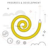 Progrès et développement Photographie stock