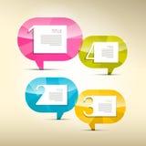 Progrès quatre étapes pour le cours, Infographics Photographie stock libre de droits