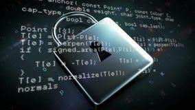 Programów kody i kędziorek ilustracji