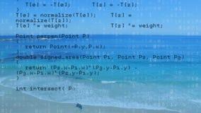 Programów kody i plaża zbiory wideo