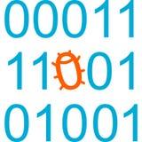 Program code with bug. Vector Illustration