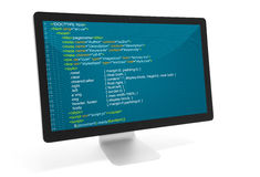Program code on a monitor Royalty Free Stock Photography