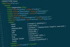 Program code Royalty Free Stock Images