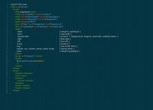 Program code Royalty Free Stock Image