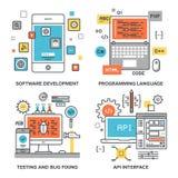 Program Coding Concepts Stock Images