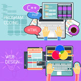 Program coding and web design Stock Photos