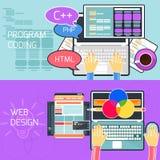 Program coding and web design royalty free illustration