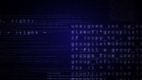 Program data screens animation.Blue color.