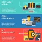 Program Development Banner Set stock illustration