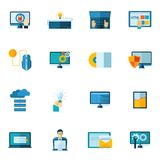 Program Development Icons Set Royalty Free Stock Images