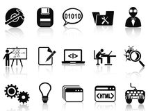 Program development icons set Royalty Free Stock Images